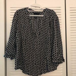Cynthia Rowley black & white blouse